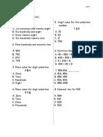Mathemtics Year 2 Paper 1