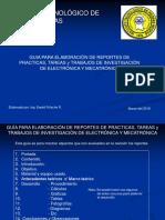 Guia Para Elaboracion de Reportes de Practicas, Tareas y Trabajos