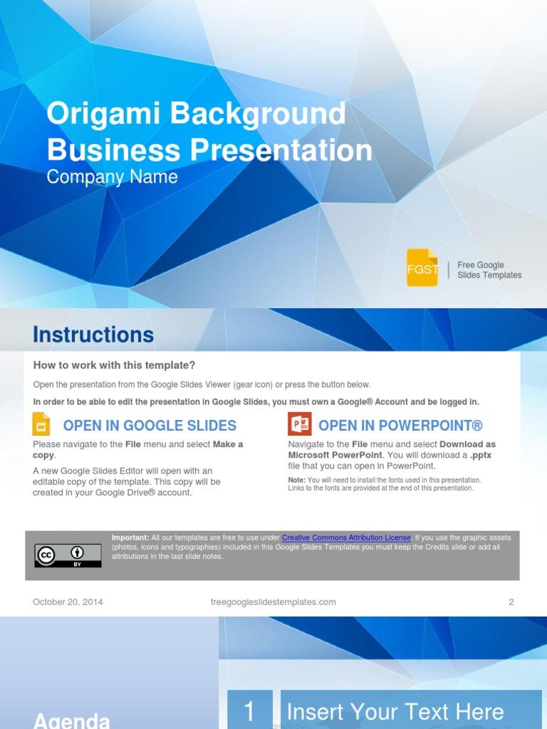 Fgst0002 Origami Background Business Presentation
