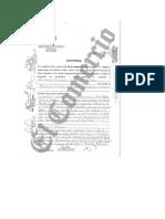 Acta de la fiscalía de la diligencia realizada en el inmueble de Vicente Silva Checa