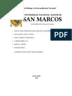 Informe de Biologia Lipidos y Proteinas