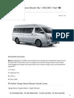 Rental & Sewa Toyota Hiace Harian Murah ☎ 0821 1313 0173 TravelBos.id