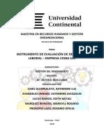 Instrumento de Evaluación de Desempeño Laboral