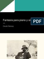 Análisis Fantasía para piano - Debussy