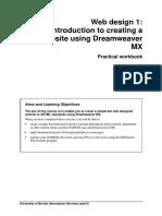 0451 Creating a Website Using Dreamweaver Mx