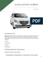 Rental & Sewa Toyota Innova Harian Murah ☎ 0821 1313 0173 TravelBos.id