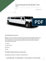 Rental & Sewa Hummer Limousine Harian Murah ☎ 0821 1313 0173 TravelBos.id