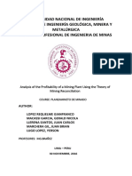 Analysis of the Profitability of a Mining Plant Using the Theory of Mining Reconciliation