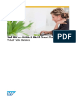 SAP BW HANA Smart data Access Virtual table statictic