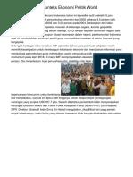 Indonesia Dalam Konteks Ekonomi Politik World
