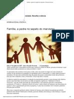 Família, A Pedra No Sapato Do Marxismo – Ricardo Roveran