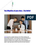 Tax Litigation at Your Door – Tax Relief