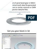 Make 3d CAD Model of Spiral Bevel.115110106