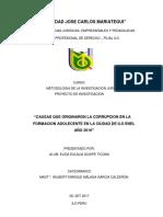 proyecto de investigacion la corrupcion en  adolecentes de la provincia d ilo 2017.docx