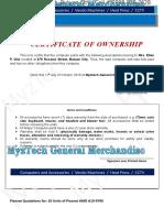 Myztech-ownership Ellen p. Gilo