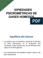 Propiedades Psicrométricas de Gases Húmedos