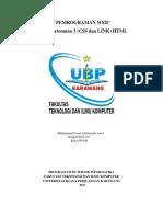 Pemrograman Web - Tugas Pertemuan 3 (Css Dan Link) HTML
