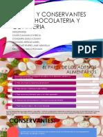 Acidos y Conservantes en La Chocolateria y Confiteria