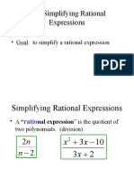 10_1 Simplifying Rational Expressions Trout 09