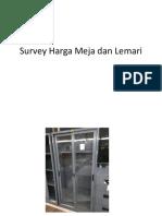 Survey Harga Meja Dan Lemari