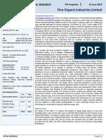 Fine Organic Industries Ltd IPO Snapshot-201806191533423490461