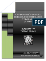 Plan de Gestión Integral de Residuos Hospitalarios y Similares Blackcat 77 Tattoo