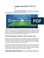 Prediksi Olympique Marseille vs PSG 29 Oktober 2018