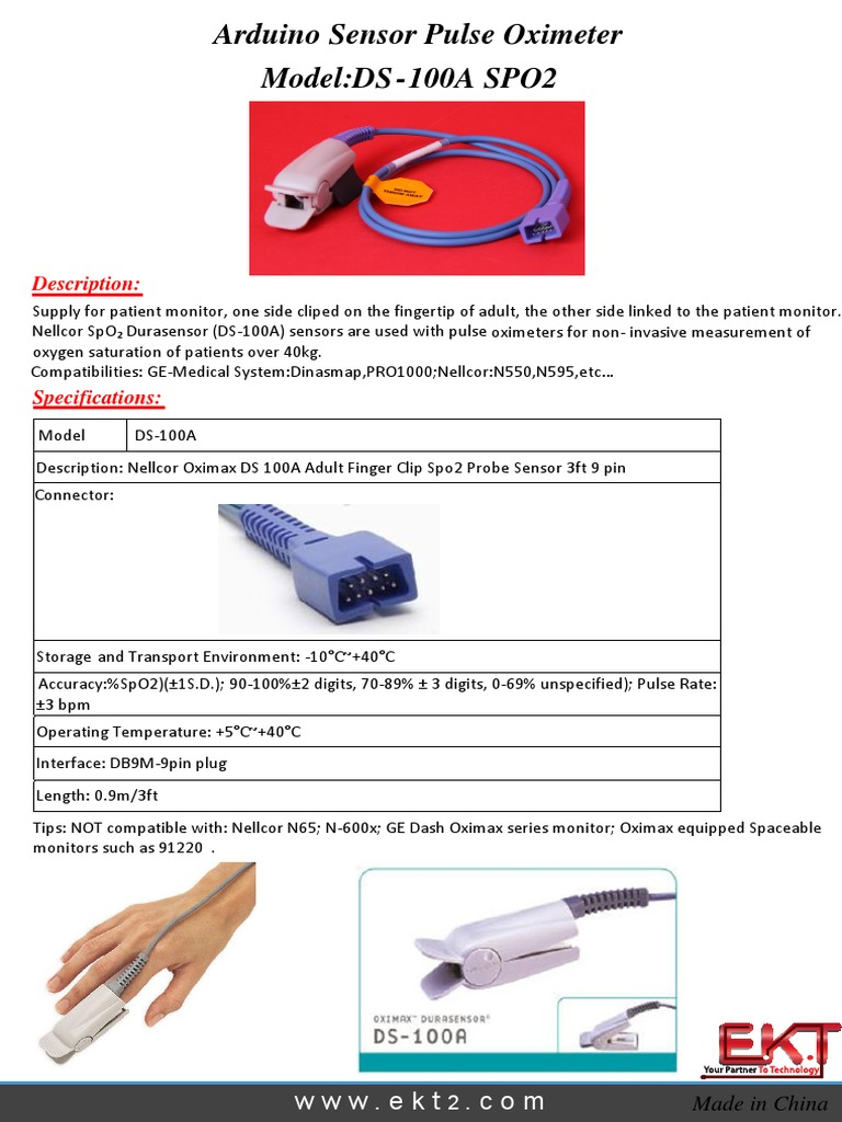 Nellcor Pulse Oximeter Probe
