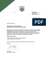 P7 Open Evening Letter to Parents Nov 2018