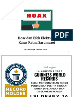 Survei LSI Tentang Hoax dan Efek Elektoral