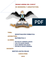Investigacion Formativa Matematica