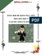 Tổng Hợp Đề Kiểm Tra 1 Tiết Môn Hóa Học 9 Năm 2017-2018 Có Đáp Án