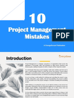 10 Project Management Mistakes