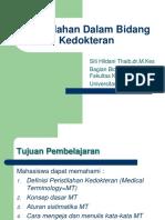 Medical terminology (Peristilahan Dalam Bidang Kedokteran).ppt