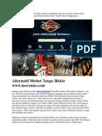 Alternatif Sbobet Tanpa Blokir Www.moveuno.com