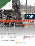 Butlletí informatiu de prevenció d'incendis forestals Espurna setembre 2018