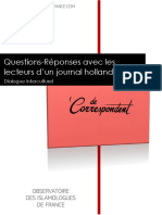 Questions-réponses avec les lecteurs d'un journal hollandais