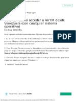Tutorial Como Acceder a AirTM Desde Venezuela Con Cualquier Sistema Operativo