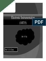 Electronics Instrumentation -Module-01