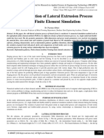 The Investigation of Lateral Extrusion Process  Using Finite Element Simulation