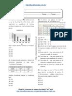 Simulado/atividade 03 Matemática para 5° ano