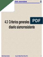 4.3 Criterios Generales de Diseno Sismorresistente