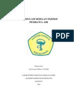 Formulasi Sediaan Injeksi Pembawa Air Ari