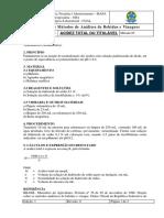 FERM ALC - 05 Acidez Total Ou Titulável