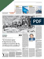 Creemos Que Chavín No Es La Cultura Matriz de La Civilización Andina