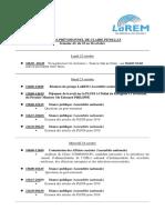 Agenda Semaine 43