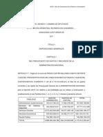 Proyecto de Presupuesto Nacional 2019