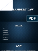 Beer Lambeert Law New