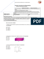 Evaluacion Sumativa Perimetro y Area de Primas y Cilindro 2018
