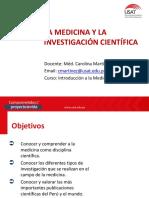 Medicina y La Investigación Científica.